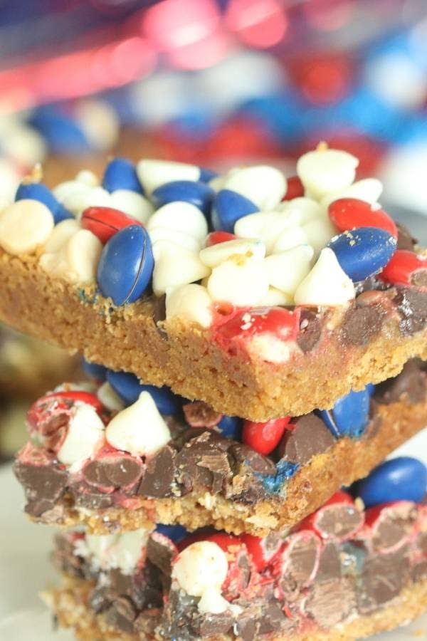 4th of July Magic Cookie Bars